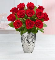 One Dozen Red Romance Roses