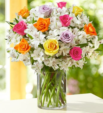 Summer Rose & Peruvian Lily Bouquet