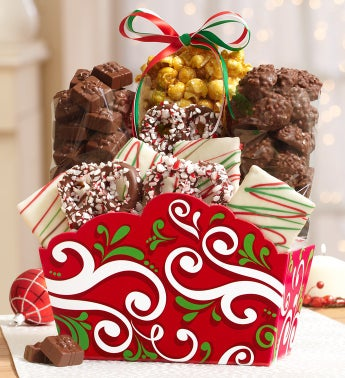Holiday Gift Basket & Harry London� Chocolates