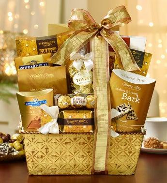 Gilded Splendor Gourmet Gift Basket
