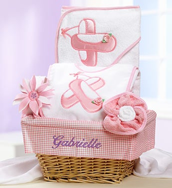 New Baby Girl Ballet Dancer Gift Basket