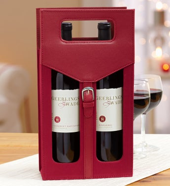 Classic Tailored Wine Tote with 2 Napa Valley Reds