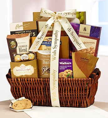 Caring Thoughts Sympathy Gift Basket