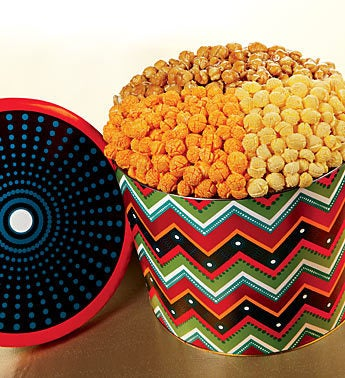 The Popcorn Factory� Zig Zag 3-Way Tin