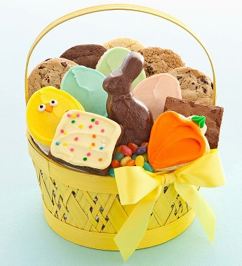 Cheryl's Yellow Easter Treats Basket