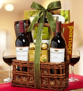 Rodney Strong 2 Bottle Wine Gift Basket