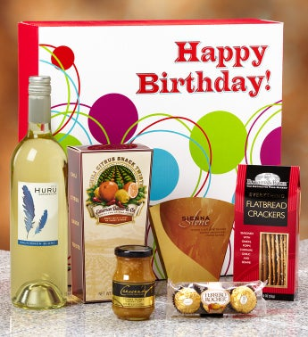 Happy Birthday Vineyard Select White Wine Gift Box