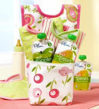 Baby on the Go Tulip Bottle Bag Gift Set