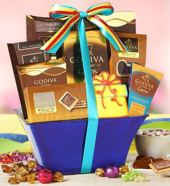 Godiva Birthday Celebration Gift Basket