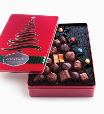 Fannie May� Chocolate Christmas Tree Tin