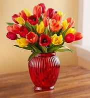 Autumn Tulip Bouquet + Free Vase