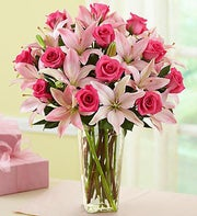 Magnificent Pink Rose & Lily
