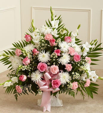 Heartfelt Tribute Floor Basket Arrangement