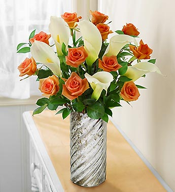 Autumn Rose and Calla Lily + Free Premium Vase