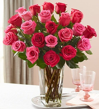 Passion for Two Dozen Pink Roses