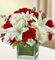 Red and White Cube Arrangement