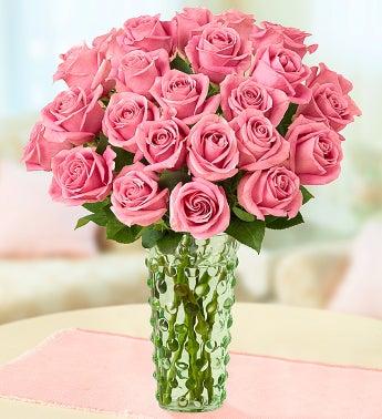 Pink Rose Bouquet + Free Premium Vase