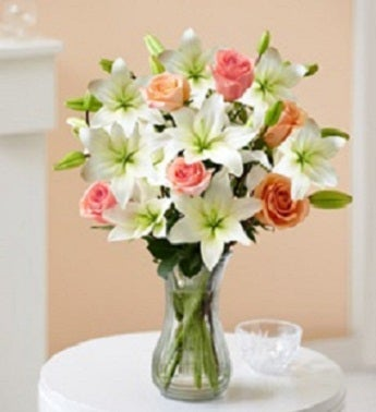 Sweet Rose and Lily Bouquet