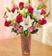 Lovely Blooms Bouquet + Free Vase