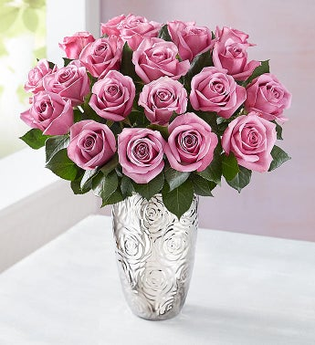 Passion for Purple Roses, 24 Stems