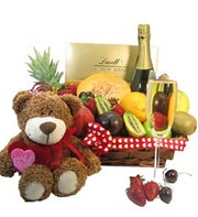 Fruit Basket With Sparkling Wine