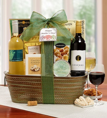 Flowers of Spring Mother's Day Wine Basket