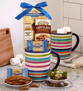 Festive Striped Mug with Ghirardelli�