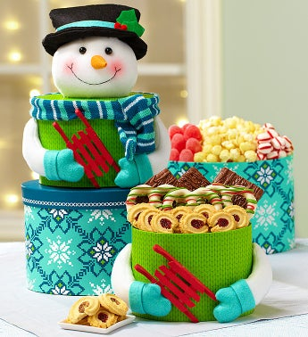 Snowman Sweets Tower