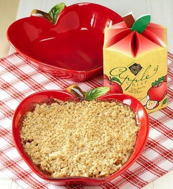 Apple Crisp & Apple Stoneware Baker Gift