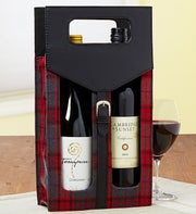 Vineyard Classics Plaid Wine Tote