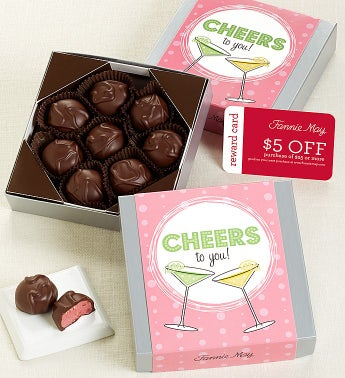 Fannie May� Cheers Raspberry Creams Choc Card