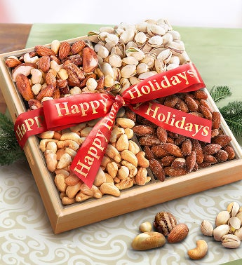 Holiday Greetings Premium Nut Sampler