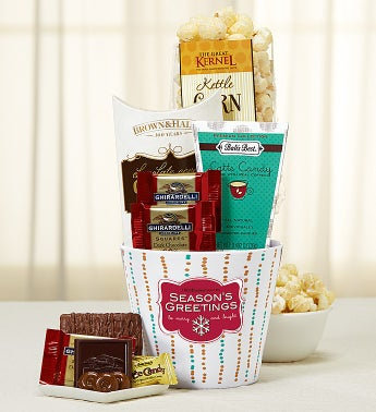 Seasons Greetings Sweet Basket