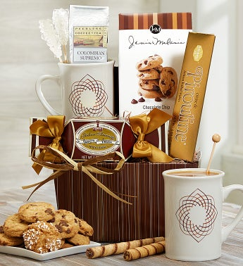 Barista's Finest Coffee & Mug Gift Basket
