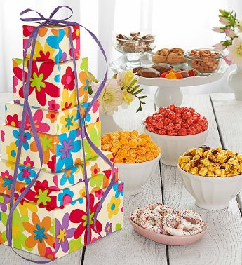 Popcorn Summer Floral 7-Tier Tower