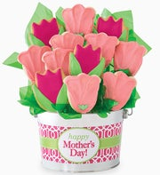Cheryl's Mothers Day Tulip Cookie Pot 12ct
