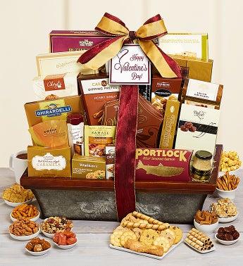 Vintage Valentine Gourmet Gift Basket