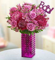 Purple Perfection Bouquet with Boo Pick