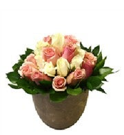 Pink and White Rose Arrangement