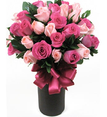 Two Dozen Mixed Pink Roses