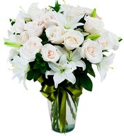 White Roses and White Lilies