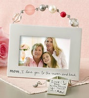 Mom, I Love You to the Moon and Back Artisan Frame