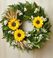 Preserved Sunflower Wreath – 16""