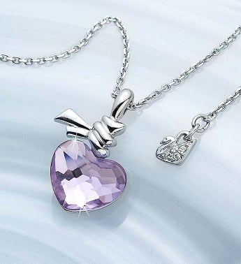 SWAROVSKI� Ties Of Love Crystal Heart Necklace