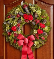 Preserved Holiday Rose Wreath - 22?