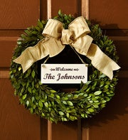 Personalized Preserved Wreath - 16""