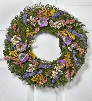 """Preserved Pansy Wreath - 16"""""""