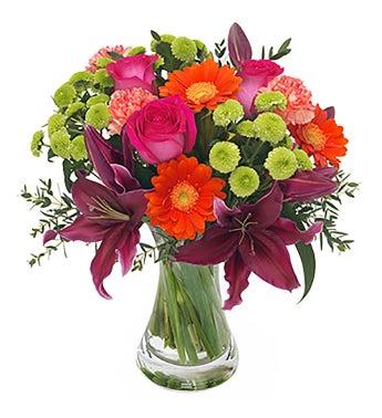 Florist Design - A Bouquet in Mixed Colors