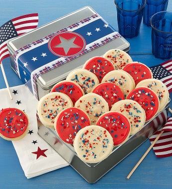 Cheryl's Americana Tin with Patriotic Cookies