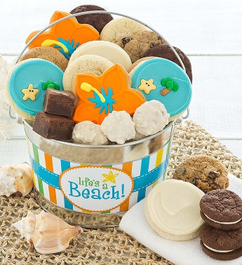 Cheryl's Beach Buttercream Bucket with Treats
